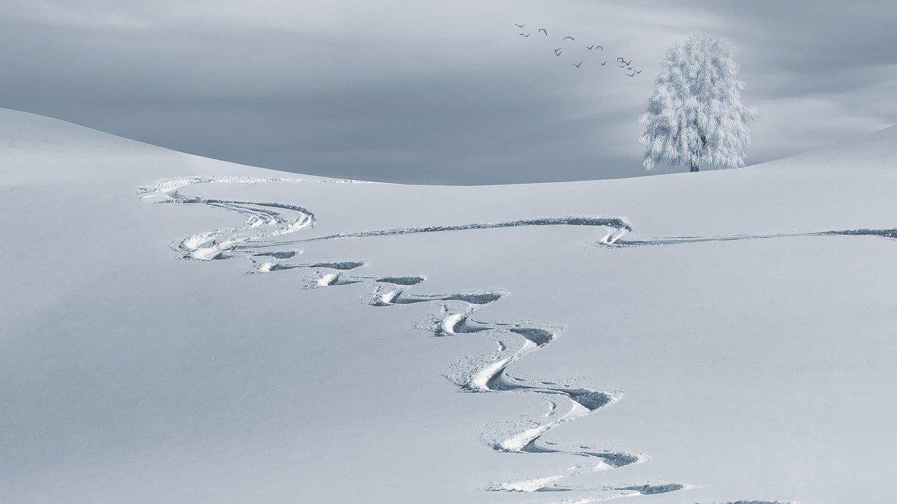 Montagna in inverno con i bambini